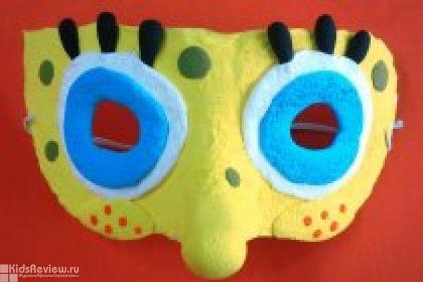 Апрельский маскарад, мастер-класс по лепке масок с фотосессией в студии JumpingClay на Комендантском, СПБ