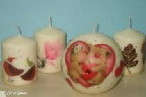 """Мастер-класс по декорированию свечей для детей от 7 лет в студии """"Пэппи Хеппи"""" в Приморском районе СПб"""