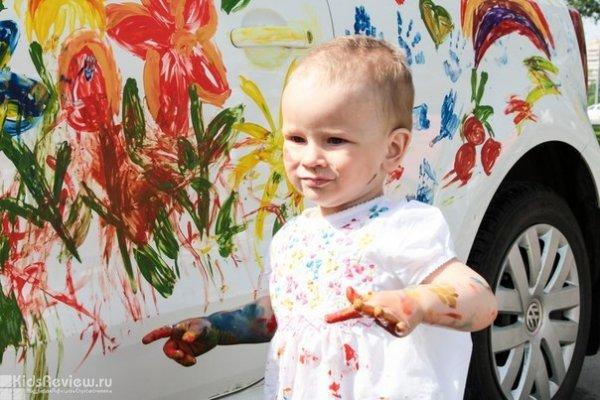 Конкурс рисунков на автомобилях, мастер-классы, фотозона - праздник для всей семьи в честь Дня защиты детей на Ветеранов, СПб