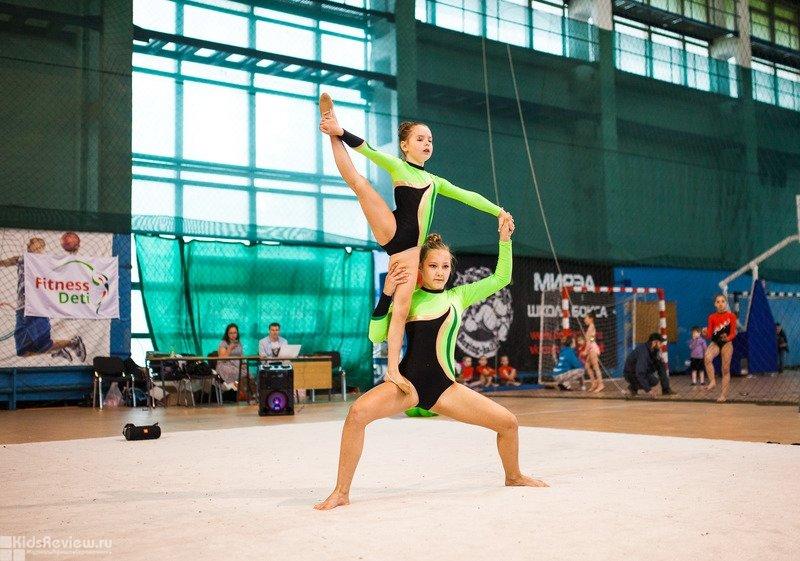 FitnessDeti, детская спортивная школа, художественная гимнастика и акробатика на Дальневосточном, СПб