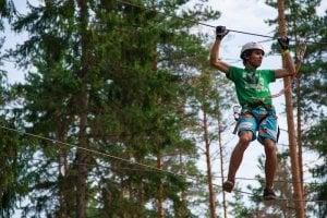 King Kong Park Ильичево, веревочный парк на базе отдыха Ильичево, Ленинградская область, фото