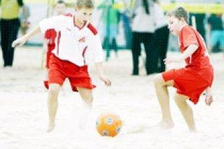 Соревнования по пляжному футболу для детей от школы «Golden» в СПб